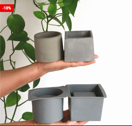 Concrete Planter Mold Silicone Vase Maker